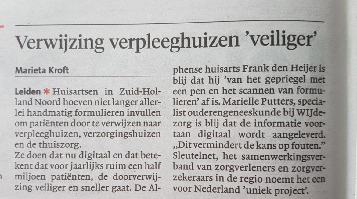 Sleutelnet in de media