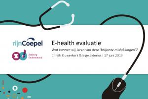 E-healthevaluatie voor Rijncoepel